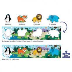 Metrowe puzzle Zwierzęta świata