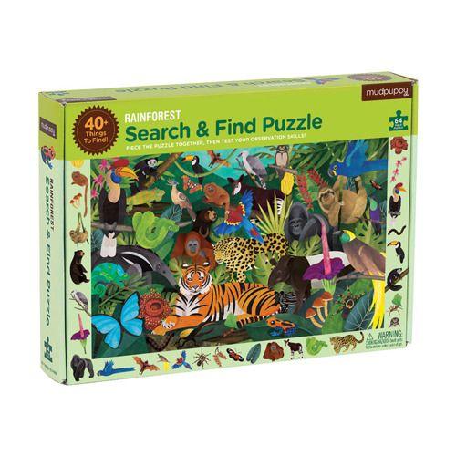 Puzzle szukaj i znajdź – Las tropikalny