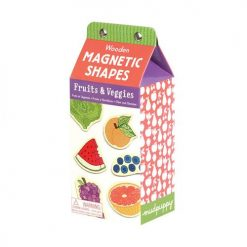 Owoce i warzywa – drewniane magnesy, Mudpuppy, 35 elemenów, +3