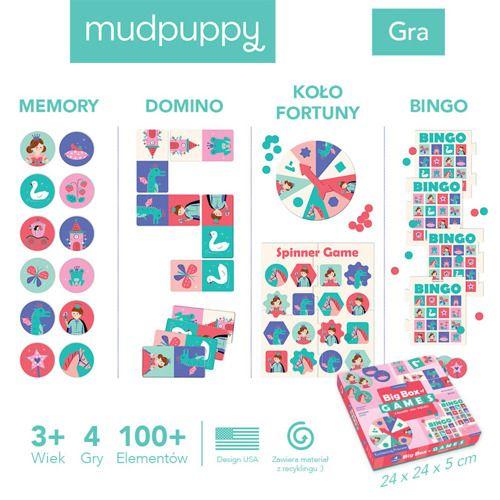 Zestaw 4 gier Księżniczka, Mudpuppy, +3 lata (4)