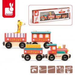 Pociąg drewniany Cyrk