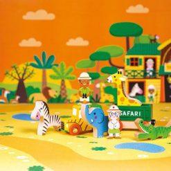 Zestaw drewnianych zabawek dla dzieci - Dzikie zwierzęta | ZabawkiRozwojowe.pl