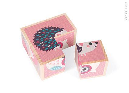 Klocki drewniane Puzzle Zwierzątka