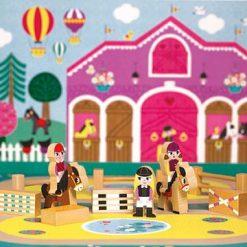 Zestaw drewnianych zabawek dla dzieci - Koniki | ZabawkiRozwojowe.pl