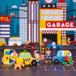Zabawki drewniane dla dzieci - Zestaw Miasto | ZabawkiRozwojowe.pl