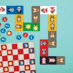 Gra domino Geometryczne zwierzęta