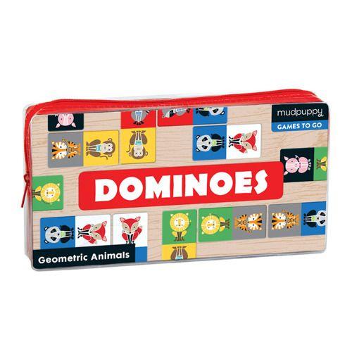 Gra domino Geometryczne zwierzęta, Mudpuppy   ZabawkiRozwojowe.pl - zabawki rozwojowe dla dzieci