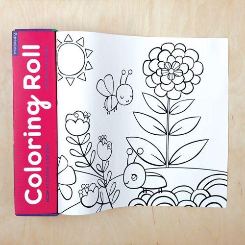 Kolorowanka w rolce z kredkami Ogród