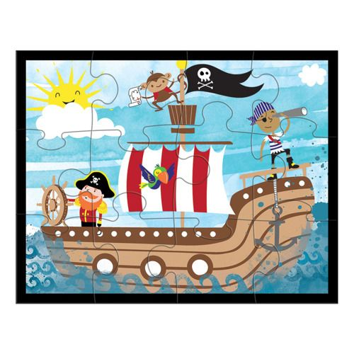 Puzzle w saszetce Piraci