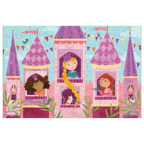 Puzzle z brokatem Księżniczka