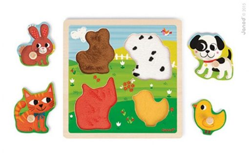 Moje pierwsze zwierzątka - puzzle sensoryczne | ZabawkiRozwojowe.pl