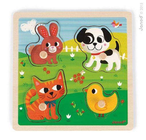 Puzzle sensoryczne Moje pierwsze zwierzątka