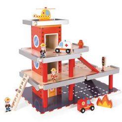 Drewniany garaż remiza dla dzieci | ZabawkiRozwojowe.pl