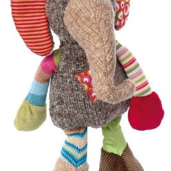 Szaro-beżowy słoń Patchwork Sweety