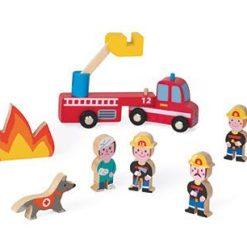 Drewniany zestaw Strażacy