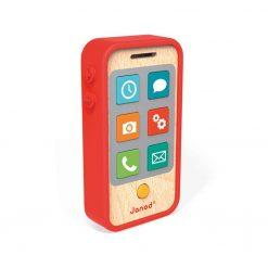 Telefon drewniany z dźwiękami - zabawka sensoryczna | ZabawkiRozwojowe.pl