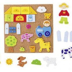 Drewniana przybijanka farma | ZabawkiRozwojowe.pl - sklep internetowy z zabawkami rozwojowymi