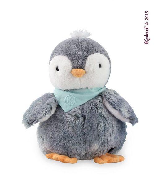 Szary Pingwin w pudełku - pluszowa zabawka | ZabawkiRozwojowe.pl