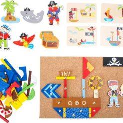 Drewniana przybijanka piraci | ZabawkiRozwojowe.pl - sklep internetowy z zabawkami rozwojowymi