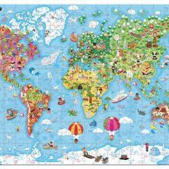 Puzzle w walizce Mapa Świata