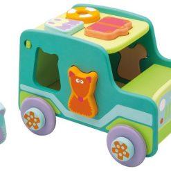 Sorter kształtów Jeep - zabawka sensoryczna | ZabawkiRozwojowe.pl
