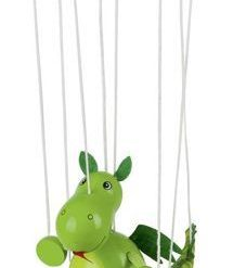 Drewniana marionetka Dinozaur