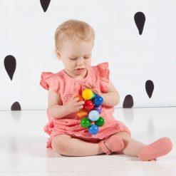 Kolorowe elastyczne perełki