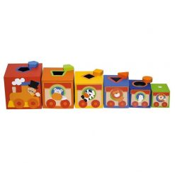 Kolorowe pudełka Cyrk - zabawka edukacyjna | ZabawkiRozwojowe.pl