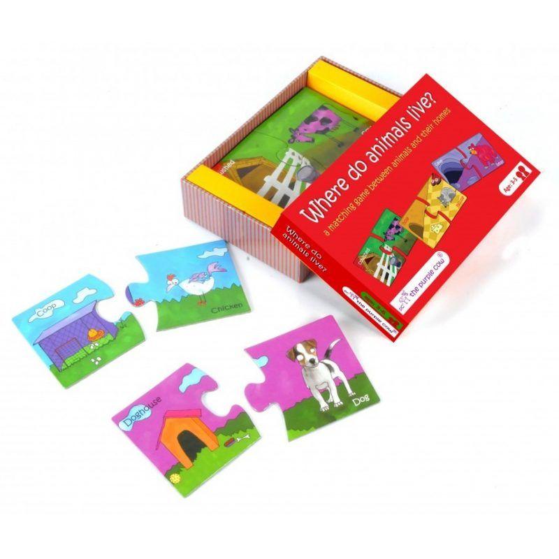 Puzzle Gdzie mieszkają zwierzęta