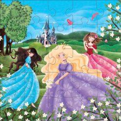 Puzzle podłogowe Zamek księżniczki