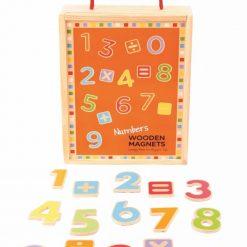 Matematyczne drewniane cyferki