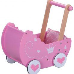 Drewniany wózek dla lalek, Lelin, 3+ | ZabawkiRozwojowe.pl