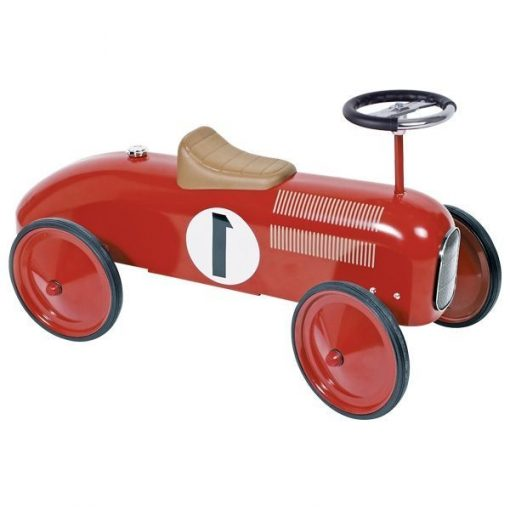 Jeździk czerewona metalowa wyścigówka