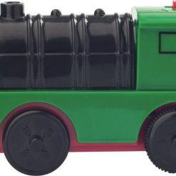 Drewniana kolejka z lokomotywą na baterie | ZabawaRozwojowe.pl