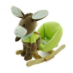 Osiołek na biegunach z zielonym fotelikiem - zabawki rozwojowe dla dzieci | ZabawkiRozwojowe.pl