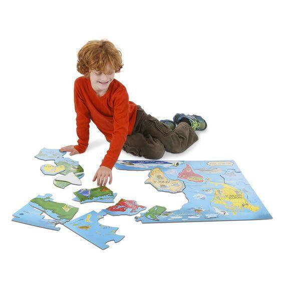 Puzzle podłogowe Mapa świata