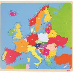 Drewniane puzzle Mapa Europy
