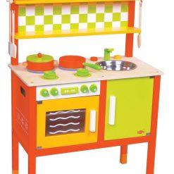 Drewniana kuchnia małego smakosza | ZabawkiRozwojowe.pl - sklep internetowy z zabawkami rozwojowymi