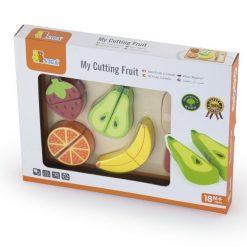 Zabawka drewniana owoce na desce