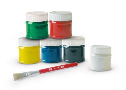 Farby z pędzelkiem