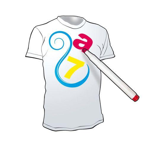 Mazaki do tkanin - 8 kolorów