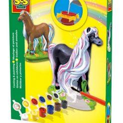 Bajkowy koń - odlew gipsowy 3D, SES Creative - zabawka plastyczna | ZabawkiRozwojowe.pl