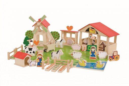 Drewniane klocki Farma