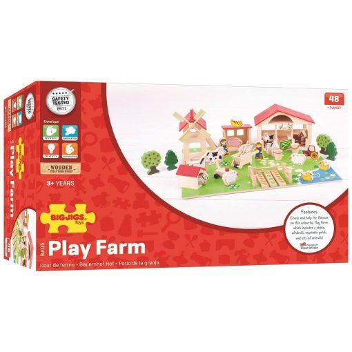 Drewniane Klocki Farma BigJigs Toys | ZabawkiRozwojowe.pl - sklep internetowy z zabawkami rozwojowymi