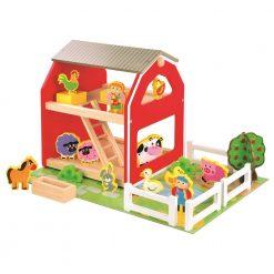 Drewniana układanka Stodoła | ZabawkiRozwojowe.pl - sklep internetowy z zabawkami rozwojowymi