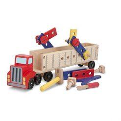 Duża drewniana ciężarówka z narzędziami | ZabawkiRozwojowe.pl