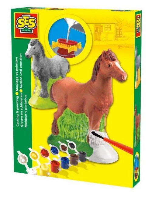 Koń - odlew gipsowy 3D, SES Creative - zabawka plastyczna | ZabawkiRozwojowe.pl