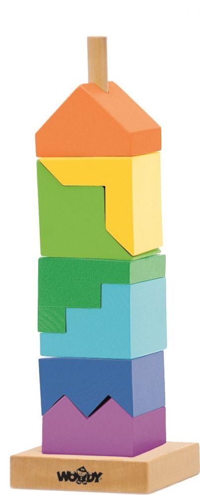 Układanka Kolorowa Wieża na paliku