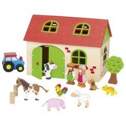 Zestaw drewnianych klocków Moja Farma | ZabawkiRozwojowe.pl - sklep internetowy z zabawkami rozwojowymi