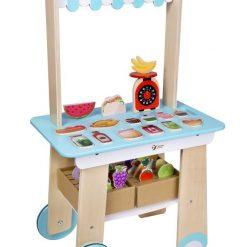 Drewniany sklepik z wyposażeniem | ZabawkiRozwojowe.pl - zabawki edukacyjne dla dzieci